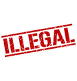 Illegal stamp vector image