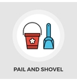 Pail and shovel flat icon vector image