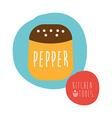 pepper design vector image