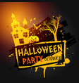 halloween party celebration grunge background vector image