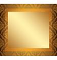 light vintage frame with golden center vector image vector image