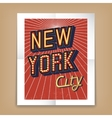 New York City poster vector image vector image