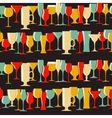 Alcoholic Glass Silhouette Seamless Pattern vector image vector image