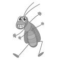 Happy fly vector image