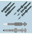 Missile military rocket weapons vector image