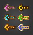 Set of wooden arrows vector image