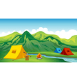 Camping tents vector image