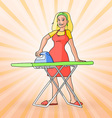 Colorful vintage housewife vector image