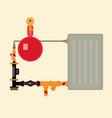 electrode boiler vector image