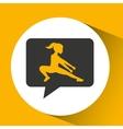 fitness girl sport emblem laurel branch vector image