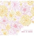 flowers outlined frame corner pattern vector image