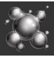 Realistic shiny transparent water drop spheres vector image