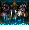 Set of fireworks festive banner vector image