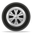wheel for car 01 vector image