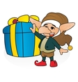 Gift from gnome vector image