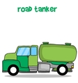 Transportation of road tanker truck vector image