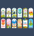 easter egg hunt tag and label set design vector image