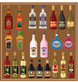 Set alcoholic beverages vector image vector image
