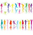 chilldren silhouettes vector image vector image