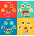 Supermarket Concept Set vector image