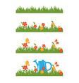 garden brush vector image vector image