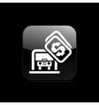 car parking icon vector image vector image