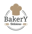 Bakery badge and bread logo icon modern style vector image