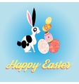 beautiful card with bunny for Easter vector image