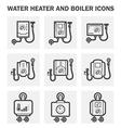 Boiler water icon vector image