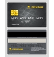 Commercial bank credit card isolated sales model vector image