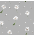 Dandelion seamless pattern on grey background vector image