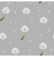 Dandelion seamless pattern on grey background vector image