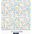 Education wallpaper School and university vector image
