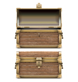Empty Old Chest vector image