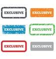 Exclusive sign icon Limited edition symbol vector image