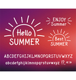 Hand drawn letters Hello summer Doodle type vector image