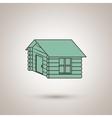 log cabin design vector image