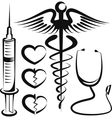 set of medical signs vector image