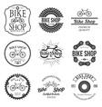 Set of vintage and modern bicycle shop logo badges vector image
