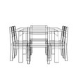 table with chairs rendering of 3d vector image
