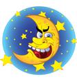 crazy moon vector image