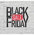 Black Friday Typography on brick wall texture vector image vector image