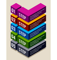 Simple 3d number options banners vector image