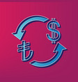 currency exchange sign turkey lira and us dollar vector image