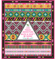 Seamless tribal pattern with geometric elements vector image vector image