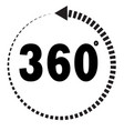 360 degrees icon on white background flat style vector image
