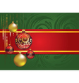 Red and Gold Christmas Balls vector image vector image