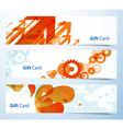Set of banners or gift cards vector image vector image