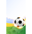 Burning soccer ball on playing field vector image