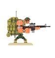Character military peacekeeper vector image